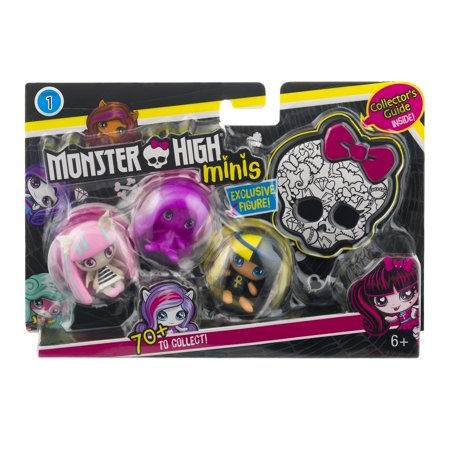 Monster High Collectible Minis Character Figure 3-Pack (Mini Monster)
