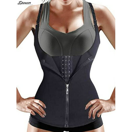 Spencer Women Sauna Body Shaper Waist Cincher Trainer Underbust Corset Shapewear Tummy Control Slimming Vest