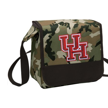 CAMO UH Lunch Bag Stylish OFFICIAL University of Houston CAMO Lunchbox Cooler for School or Office - Men or
