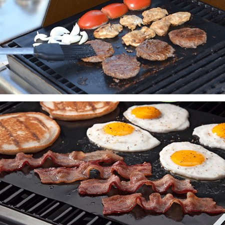 Non-Stick BBQ Grill Mat Barbecue Baking Mat Liners Teflon Heat Resistant Roast Party Reusable Cooking Tools - image 5 of 8