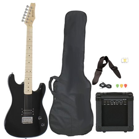 davison guitars electric guitar black full size with amp case cord strap and picks. Black Bedroom Furniture Sets. Home Design Ideas
