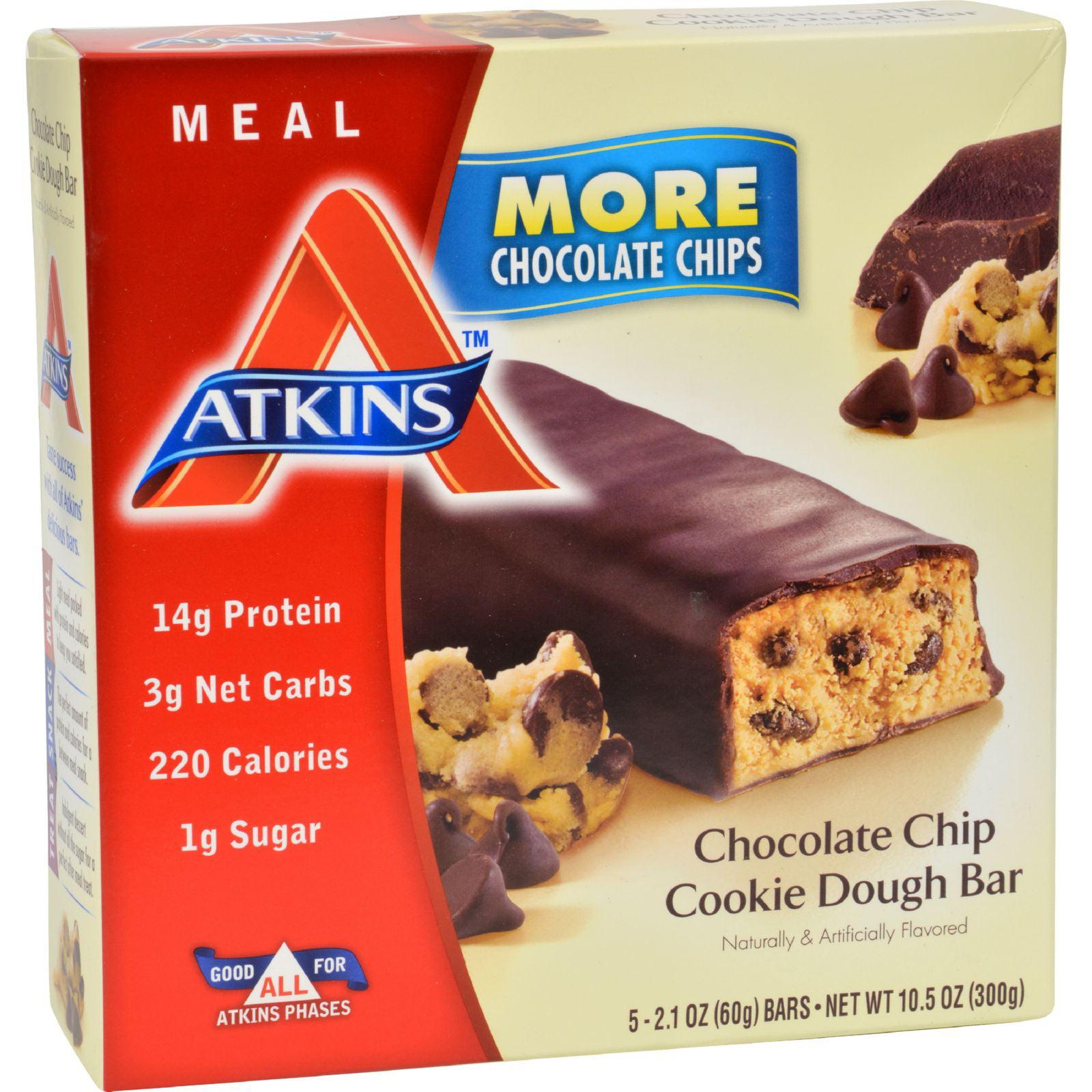 Atkins Advantage Bar Chocolate Chip Cookie Dough 5 Bars by