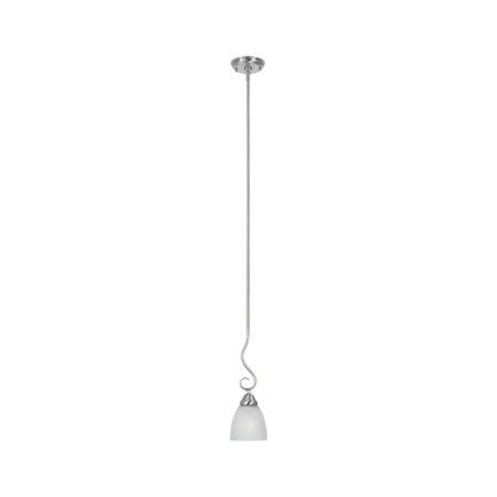 - Satin Platinum Single Light Down Lighting Mini Pendant Stratton Collection