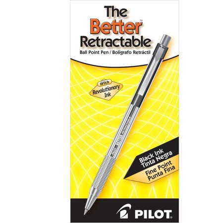 Pilot Better Retractable Ball Point Pens, Fine Point, Black, 12 Count (30000)
