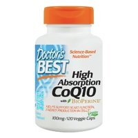 High Absorption with Bioperine CoQ10 100mg Doctors Best 120 VCaps