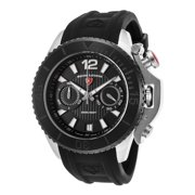 14018Sm-01-Bb Scorpion Chrono Black Silicone And Dial Black Bezel Watch