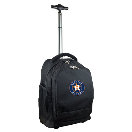 - Houston Astros 19'' Premium Wheeled Backpack - Black - No Size