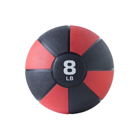 Monoprice GetFit Fitness 8 Pound Medicine Durable Construction, Easy Grip, Ball Workout, Exercise, Cardio,