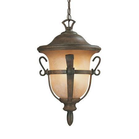 Walnut Finish Pendants - Outdoor Pendant 3 Light With Walnut Finish Candelabra Base Bulb 19 inch 180 Watts