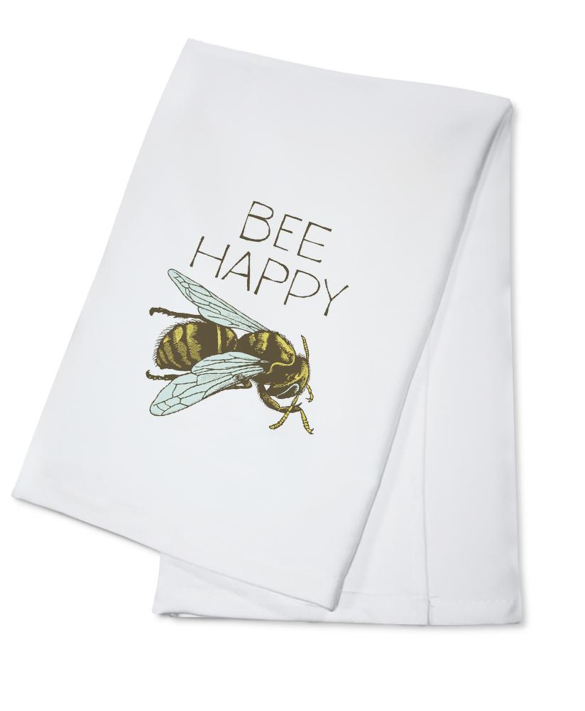 Bee Happy Breathless Paper Co. Artwork (100% Cotton Kitchen Towel) by Lantern Press