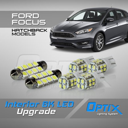 Fiat Interior Cover - Optix 6pc 2014+ Fiat 500L LED Interior Light Package Replacement Set - White