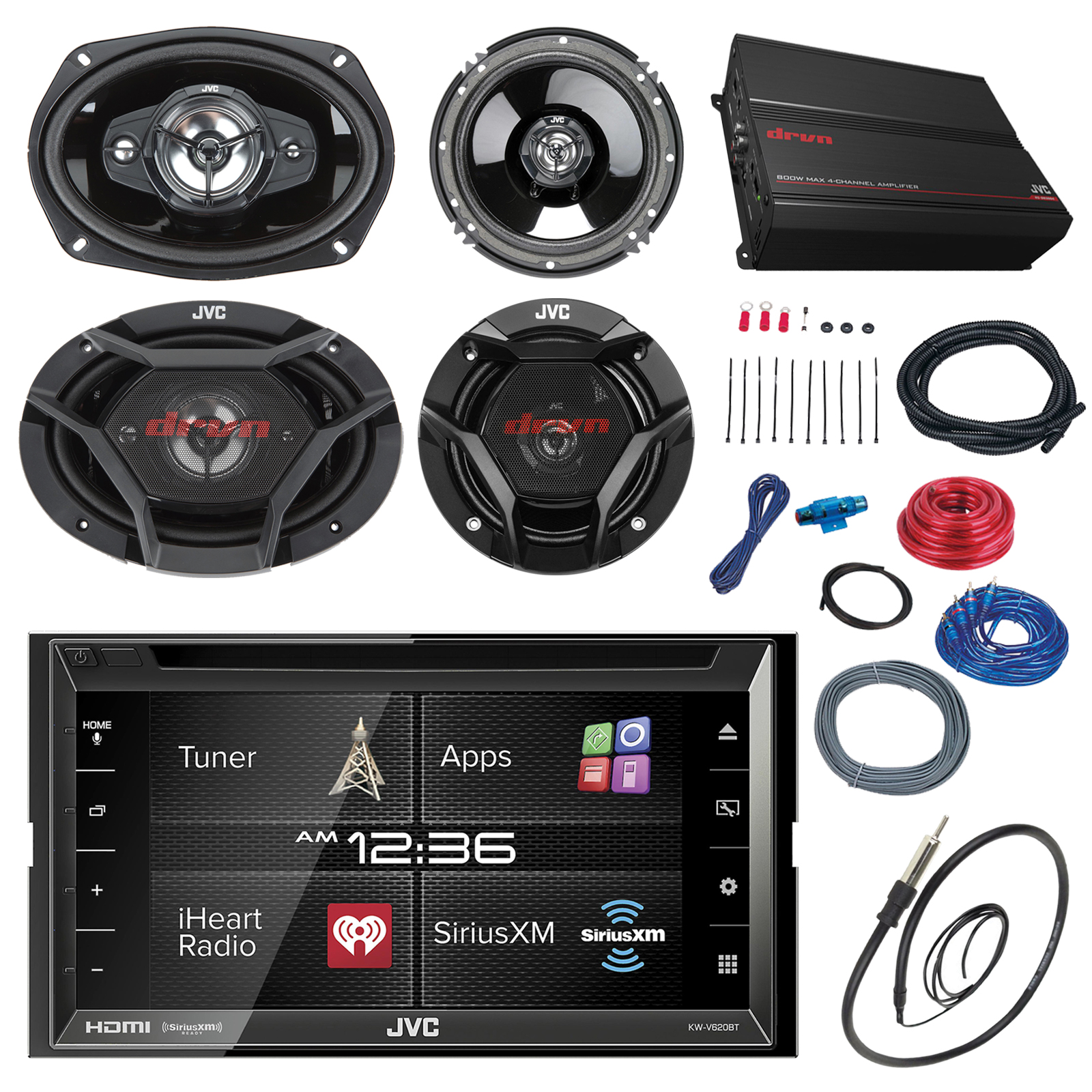 "JVC KWV620BT 6.8"" Touch Screen Car CD/DVD Receiver Bundle..."