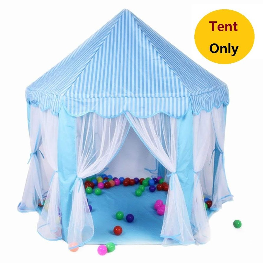 Princess Castle Kids Play Tent Large Children Playhouse for Girls Indoor Outdoor Use for Boys Girls w/ Zipper Storage Case