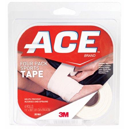 ACE Brand SportsTape, 1.5 in. x 10 yds., White, 4 Rolls/Pack