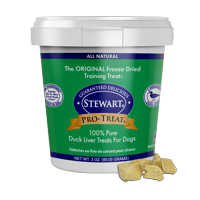 Stewart Pro-Treat Freeze Dried Duck Liver 3 oz. Tub