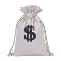 KABOER Party Favor Prop Accessory West Casino Pirate Gangster Theme Party Money Bag Sack