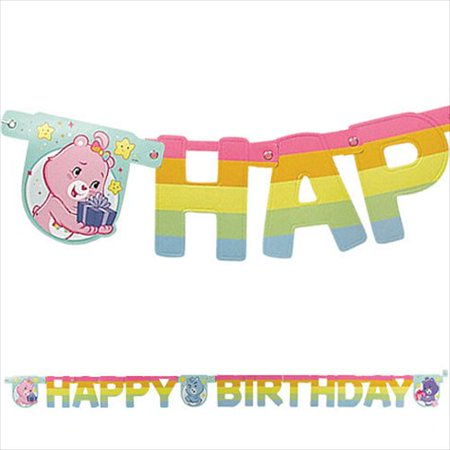 Care Bears Happy Birthday Banner (1ct) - Bear Birthday