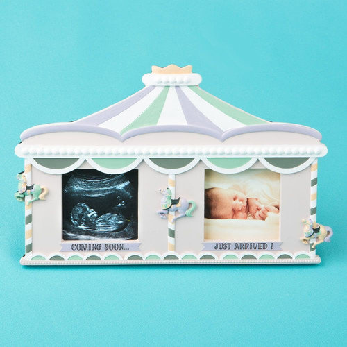 Fashion Craft Sonogram Birth and Fabulous Circus Tent Double Picture Frame