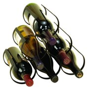 Decmode 10 X 12 Inch Modern Black Iron 6-Bottle Wine Rack
