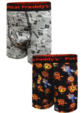 Five Nights at Freddy's Boys Underwear, 2 Pack Boxer Brief (Big Boys)