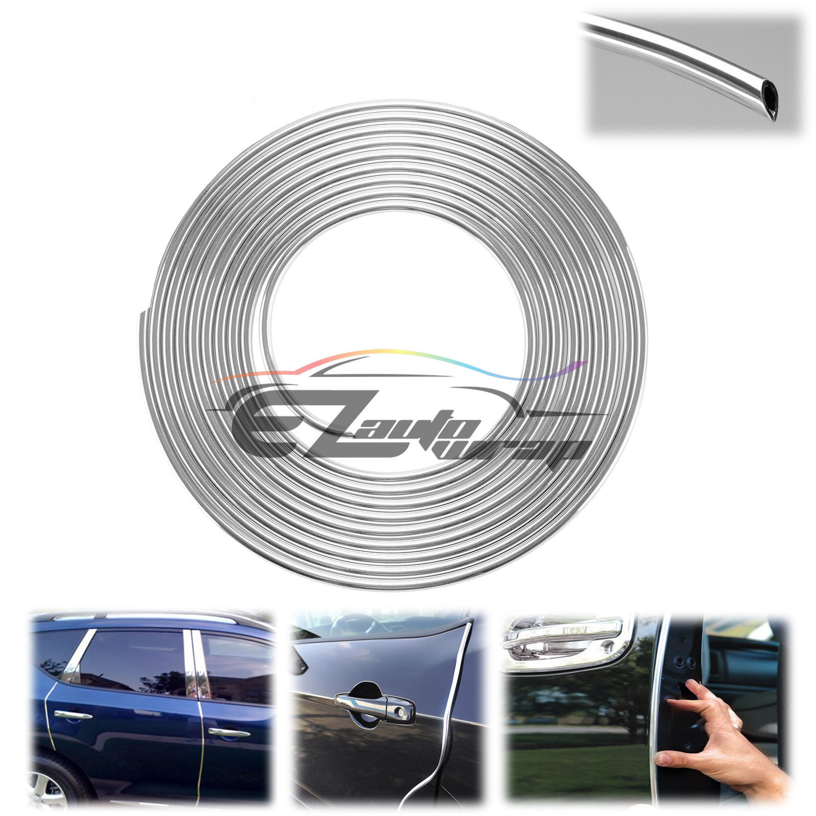 Black Car Door Edge Guard Molding Trim DIY Protectors Strip
