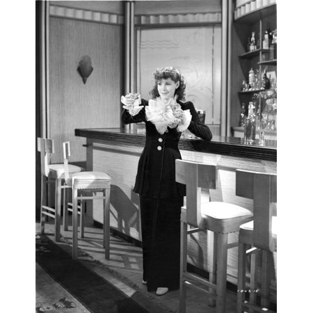 Frances Dee posed in Maid Outfit in Black and White Photo Print](German Maid Outfit)