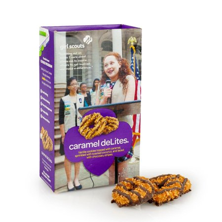 Girl Scout Carmel deLites Cookies 7 Ounce Box](Halloween Games Girl Scouts)