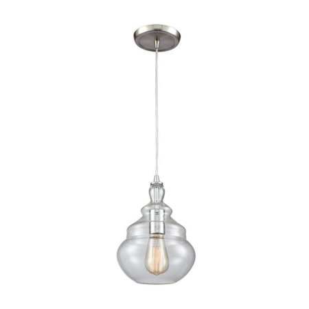 Elk Lighting Tabor - One Light Pendant, Polished Chrome Finish with Clear Glass