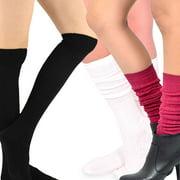 Teehee Women's Fashion Pointelle Cotton Knee High Socks - 3 Pairs Pack (Love Combo)