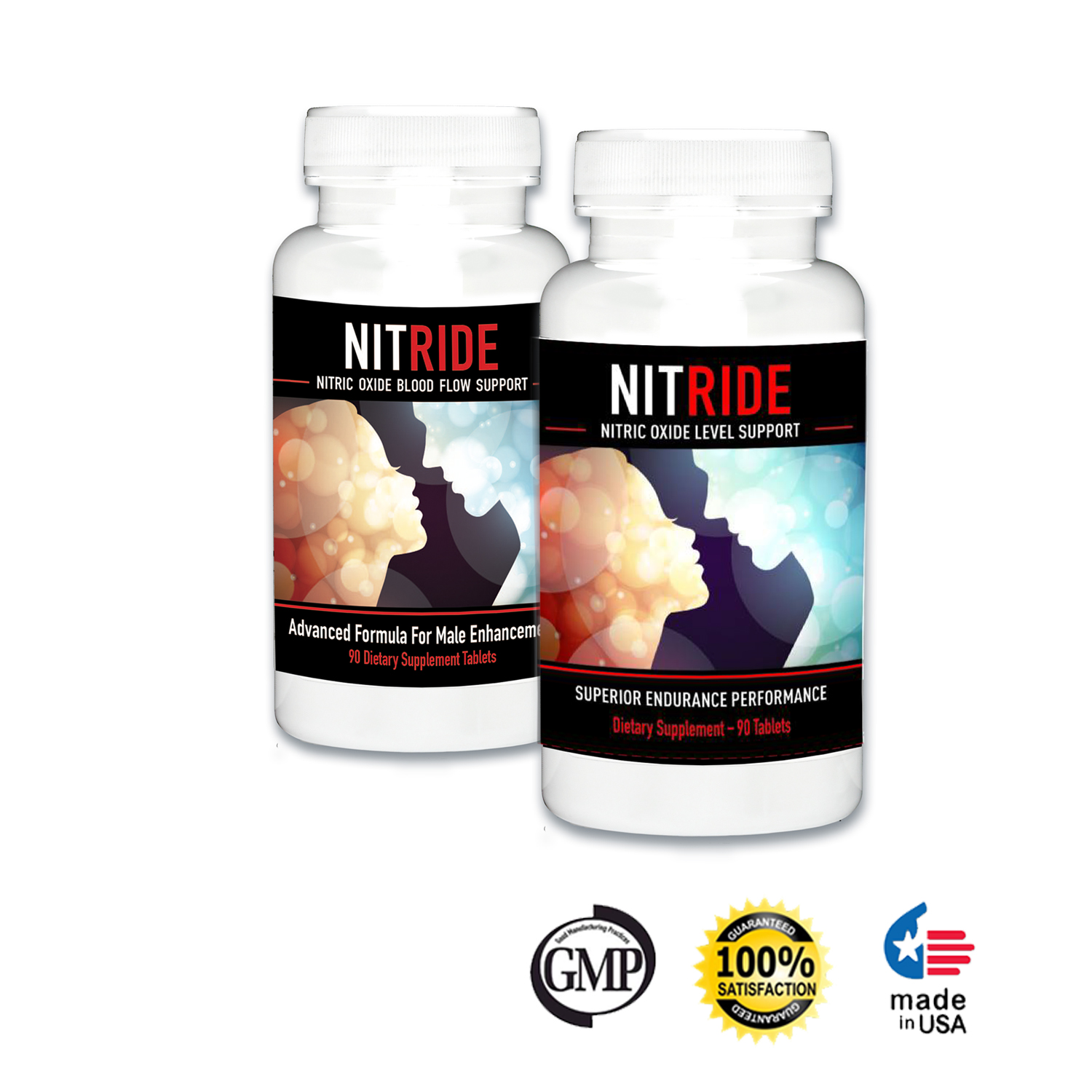 Nitride Premium Nitric Oxide Booster For Increased Blood Flow, Stamina, Stimulate Libido & Ability, Men, Push Beyond Former Limits Today (2 Bottles)