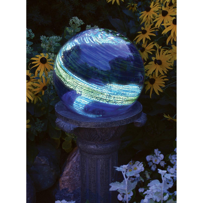 "Echo Valley 8440 4"" Blue Swirl Illuminaire Gazing Globe"