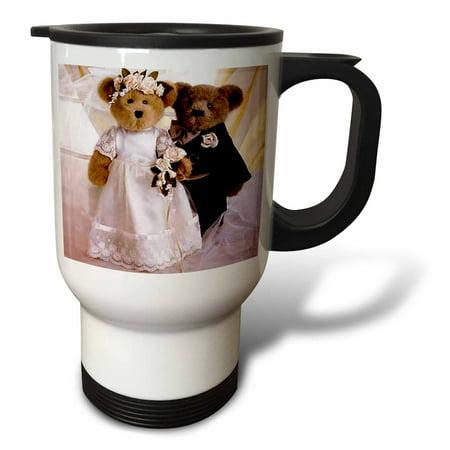 3dRose Wedding Anniversary Personalized, Travel Mug, 14oz, Stainless Steel