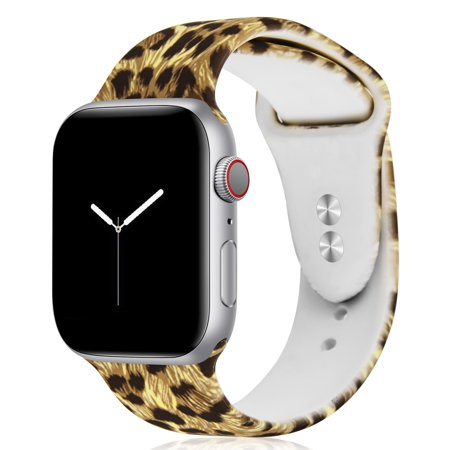 Leopard Band (For Apple Watch Band 42mm 44mm, Luxmo Compatible With Apple Watch Band 42mm 44mm Classic Silicone Sport Replacement Strap Bracelet for iwatch all Models Series 3 Series 4 - Leopard Print)