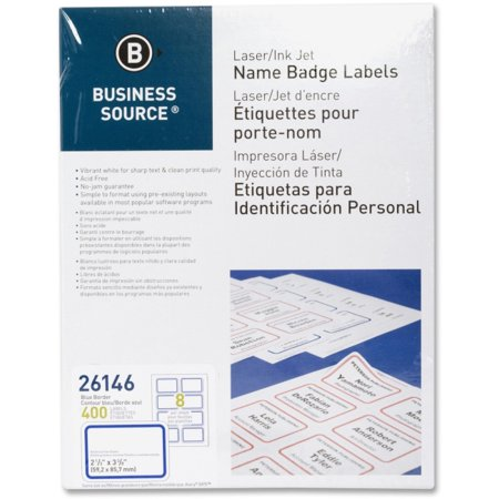 Business Source Laser/Inkjet Name Badge Labels