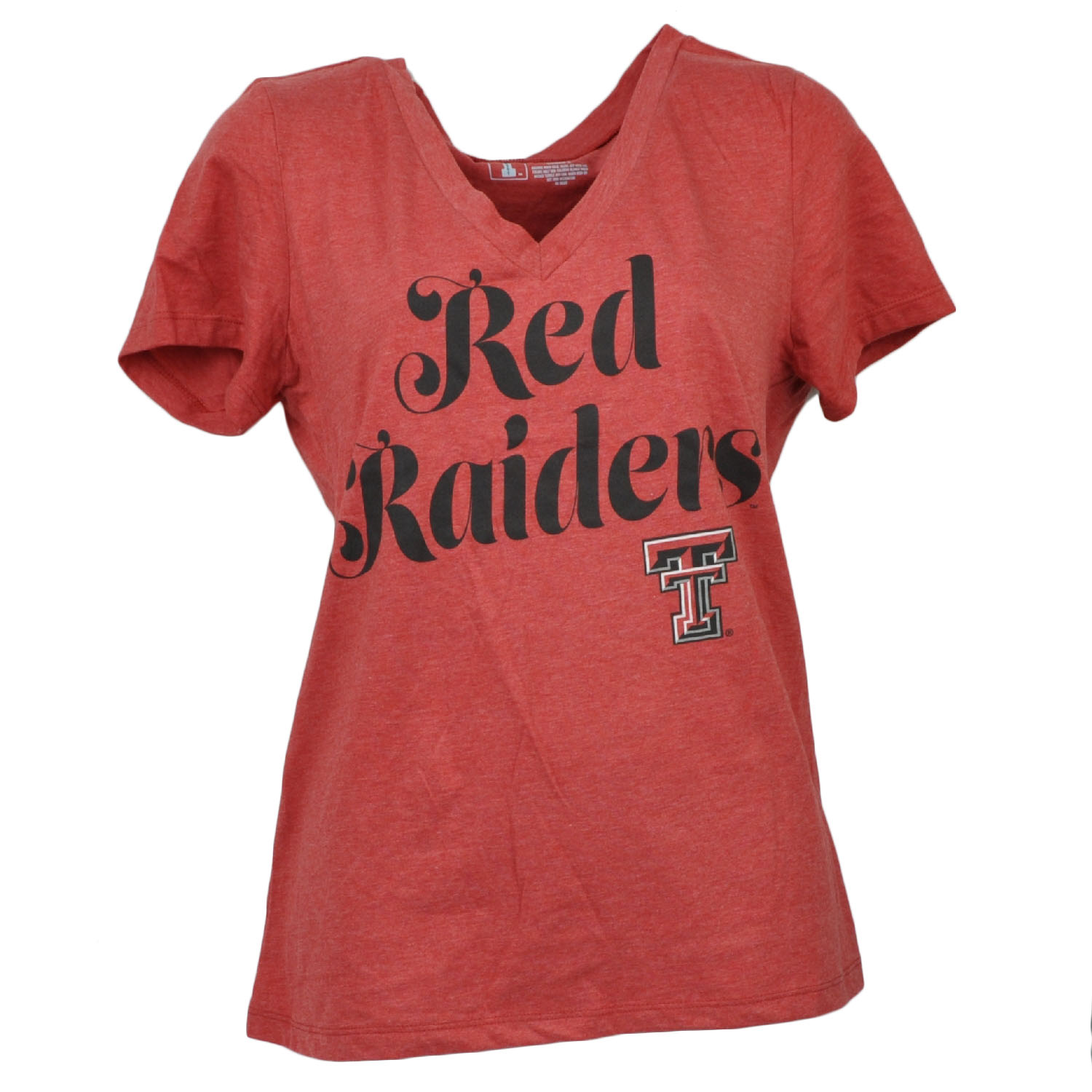 NCAA Texas Tech Red Raiders V Neck Womens Short Sleeve Tshirt Tee Ladies XLarge