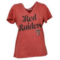 81f662436 NCAA Texas Tech Red Raiders V Neck Womens Short Sleeve Tshirt Tee Ladies  XLarge
