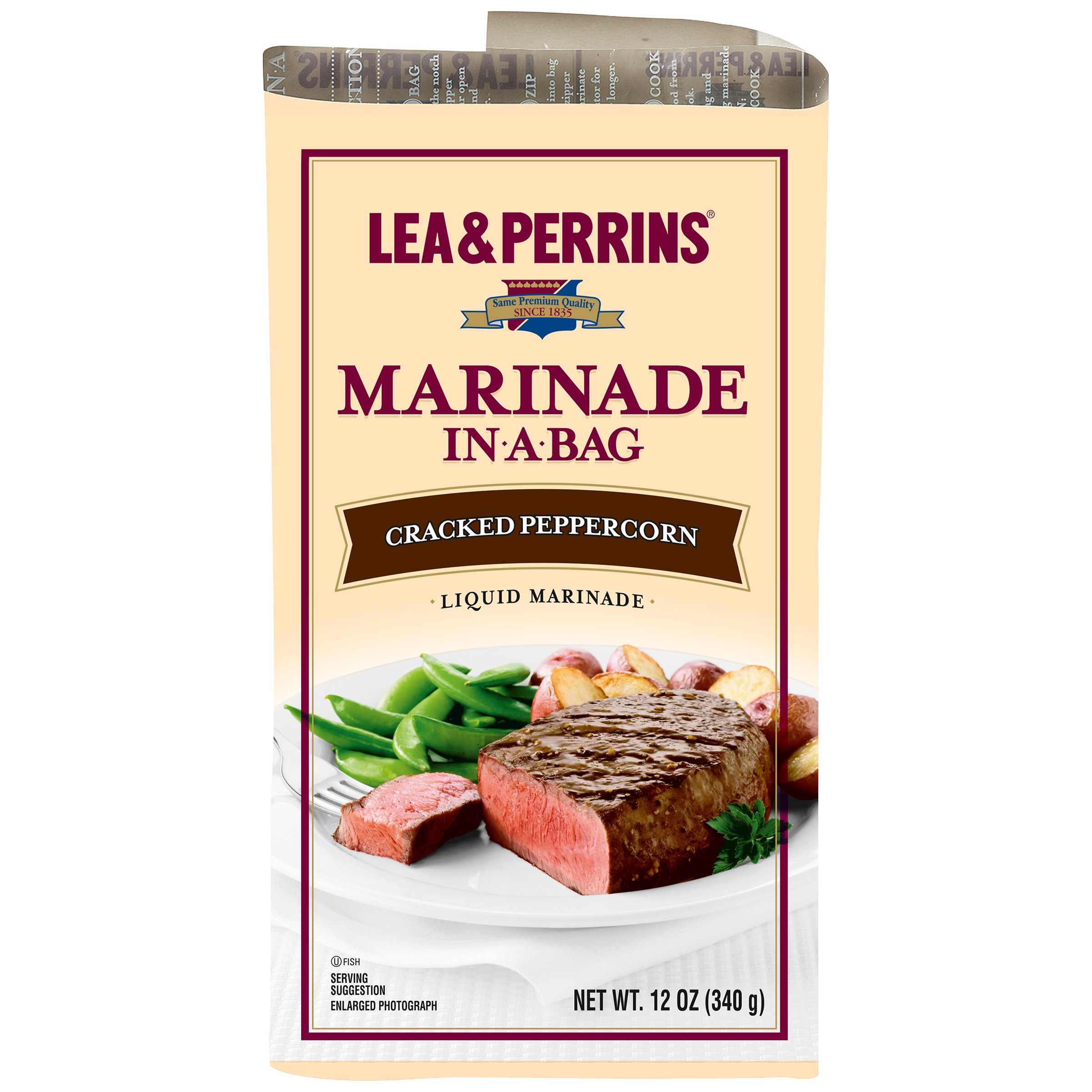 Lea & Perrins® Cracked Peppercorn Marinade In-a-Bag 12 oz. Bag