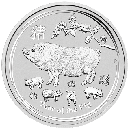 2019 Silver Year of the Pig 1 Kilo Coin Perth Mint Lunar Series