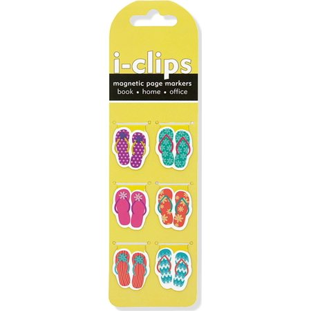 Flip Flop I-Clips Magnetic Page Markers (Set of 6 Magnetic Bookmarks) (Other) ()