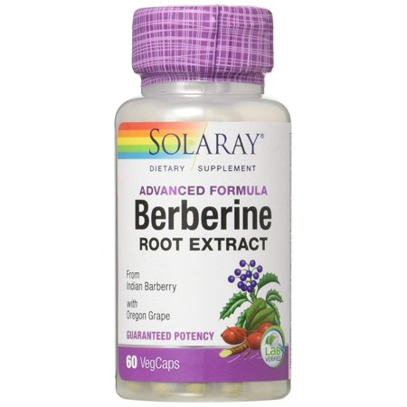 Berberine Root Extract Advanced Formula   Indian Barberry w/Oregon Grape   AMPK Activator   Immune, Digestion & Metabolism Support   60ct, Advanced Formula:.., By Solaray