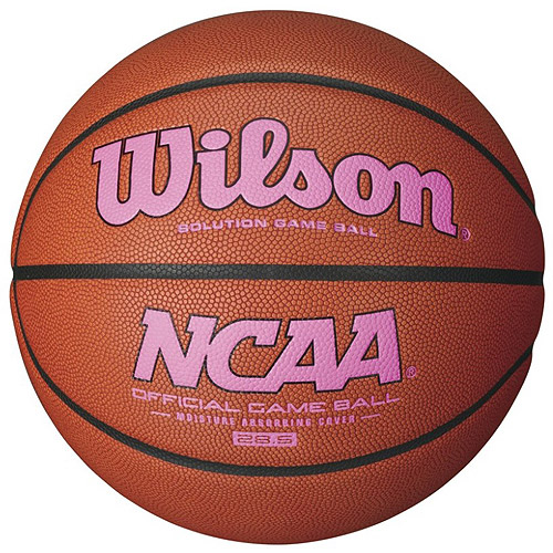 Wilson NCAA Intermediate Size Game Basketball, Pink Logo by Wilson