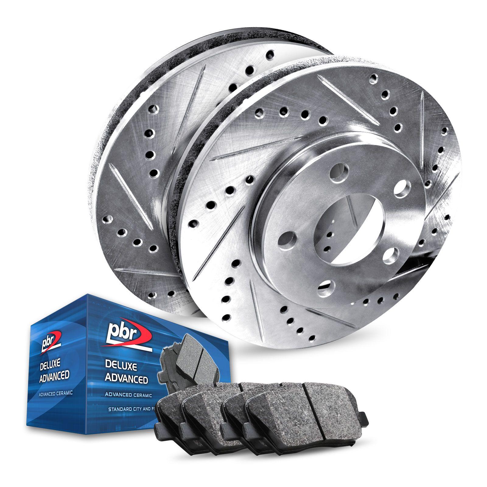 For 2001-2005 Mazda Miata Front Drill//Slot Brake Rotors+Ceramic Brake Pads