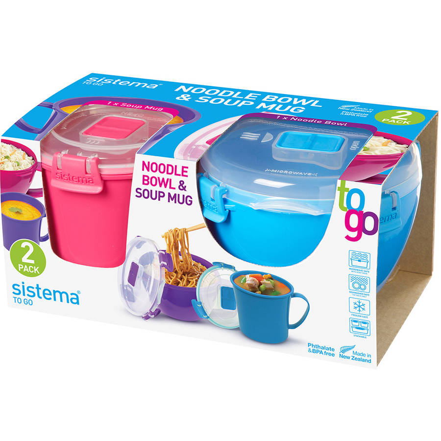 Sistema To Go Soup and Noodle Containers, 2 Pack - Walmart.com
