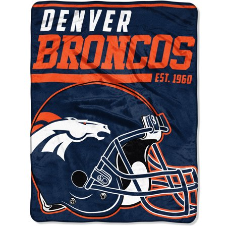 "NFL Denver Broncos ""40-Yard Dash"" 46""x 60"" Micro Raschel Throw"