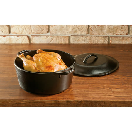 Best Lodge 5 Quart Seasoned Cast Iron Dutch Oven, L8DOL3, with Cast Iron Lid deal