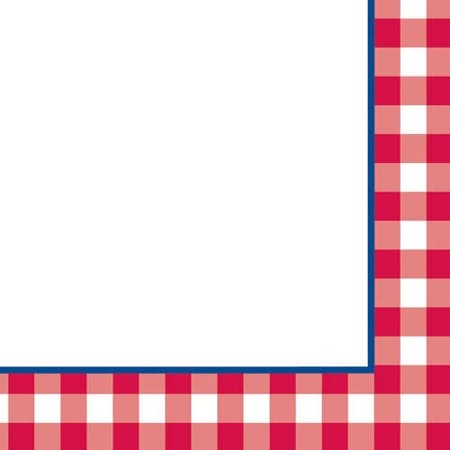 Gingham Fun Lunch Napkins (16ct)](Red And White Gingham Napkins)