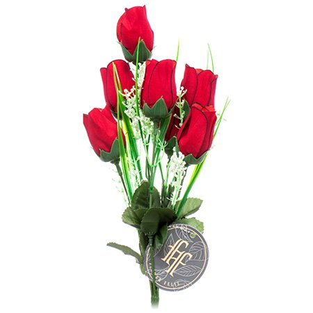 New 373932  Artificial Rose Red 7 Heads (24-Pack) Artificial Flower And Plants Cheap Wholesale Discount Bulk Floral Supply Artificial Flower And Plants Footed