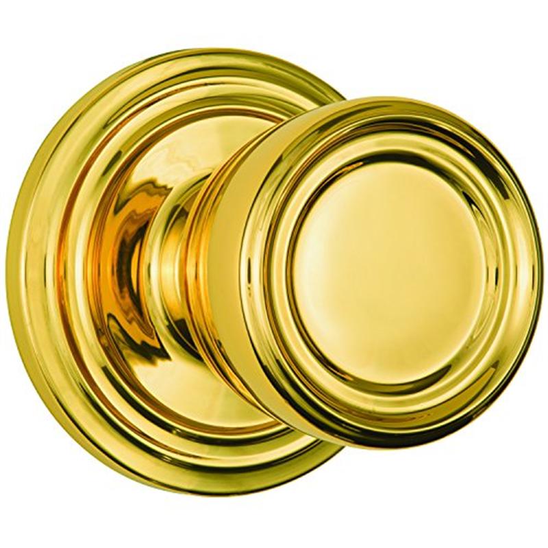Brinks 23045-105 Barrett Single Cylinder Passage Door Knob, Polished Brass