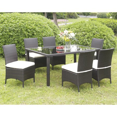 Furniture of America  Mianne Espresso Wicker Inspired Patio Chair (Set of 2) ()