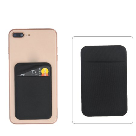55x90mm Cell Phone Wallet Stick on Purse for Credit Card ID Earphone (Credit Card Machine Attached To Cell Phone)